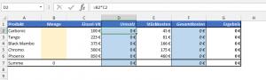 Meine Beispiel-Kalkulation