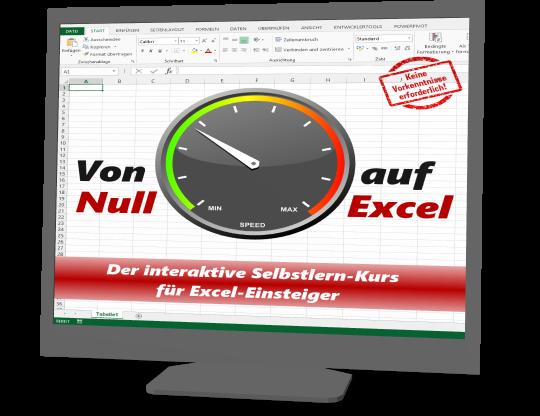 """E-Kurs """"Von Null auf Excel"""""""