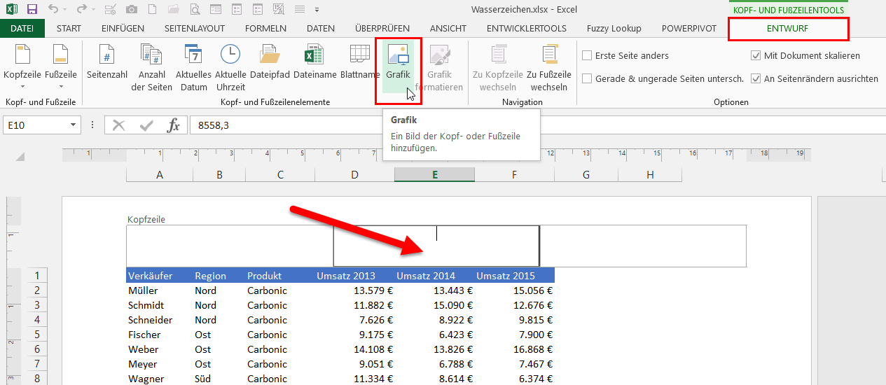Excel hintergrund hinterlegen