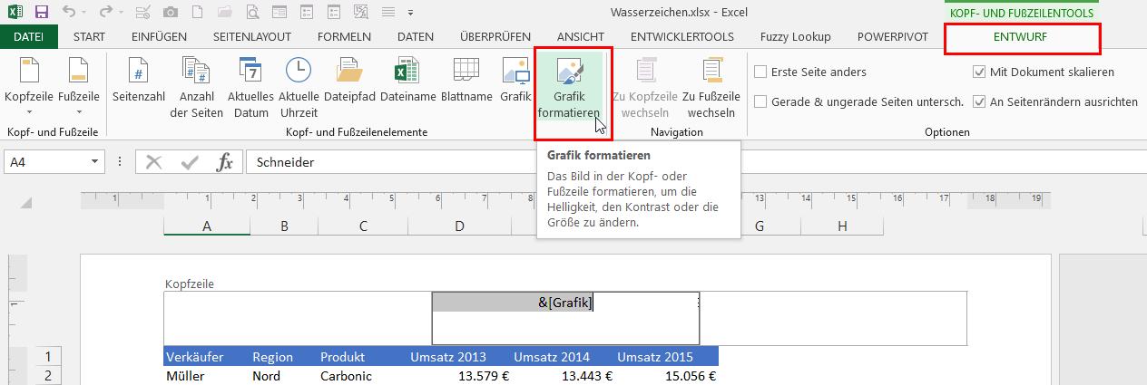 Excel hintergrund lasst sich nicht andern