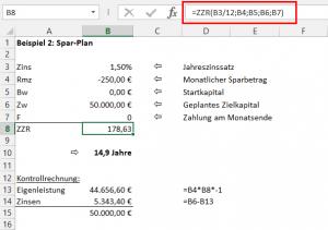 Beispiel 2: Spar-Plan