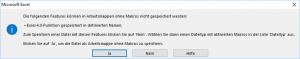 Warnung vor dem falschen Dateiformat