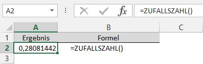 Excel Zufallszahl Zwischen