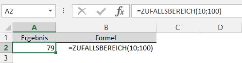 Zufall Excel