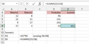 Beispiel 1: SUMMENPRODUKT (Variante1)