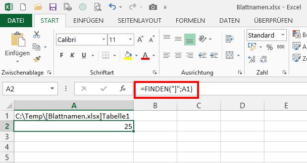 Wie heißt du? Den Namen des Arbeitsblattes in Excel ermitteln | Der ...