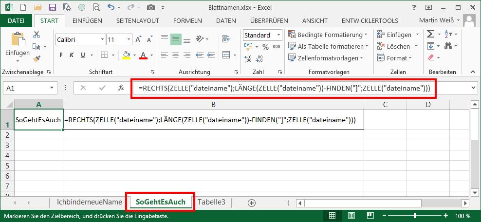 Wunderbar Excel Formel Arbeitsblatt Name Zeitgenössisch - Super ...