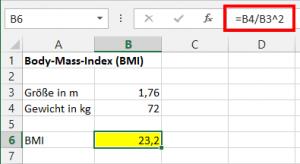 Berechnung des BMI