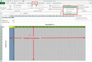 Datentabelle erstellen