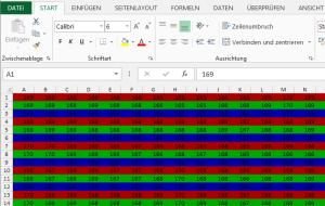 In Excel-Tabelle umgewandeltes Foto