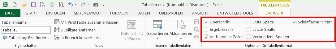 Verborgene Talente in Excel: Als Tabelle formatieren   Der Tabellen ...