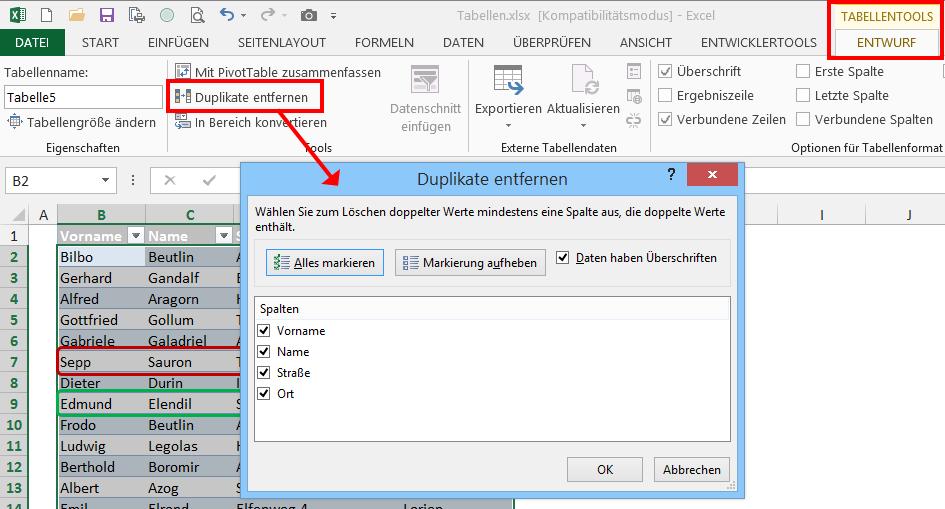 Verborgene Talente in Excel: Als Tabelle formatieren | Der Tabellen ...