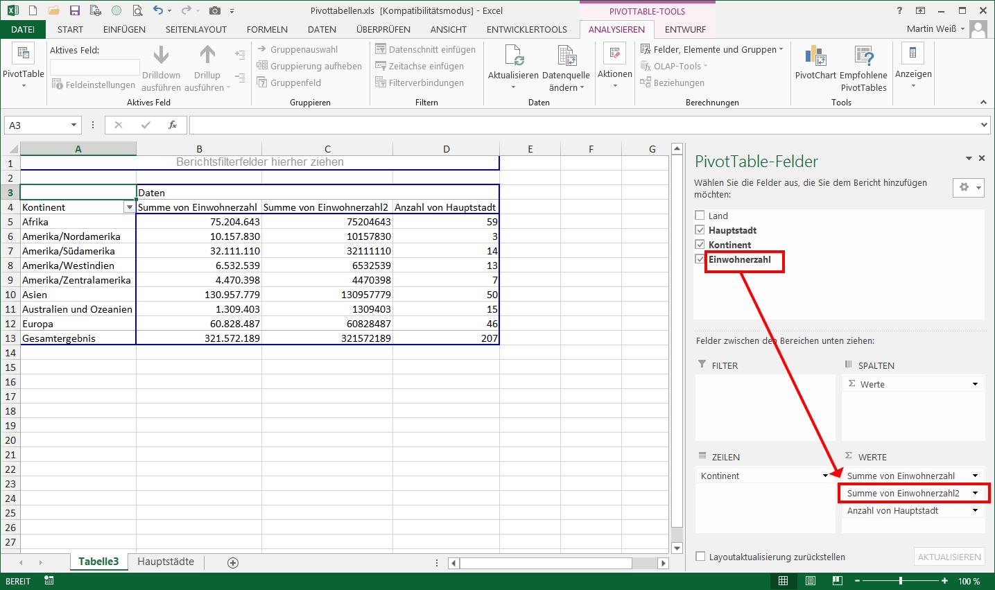Der beste Freund des Excel-Analysten: Pivot-Tabellen   Der Tabellen ...