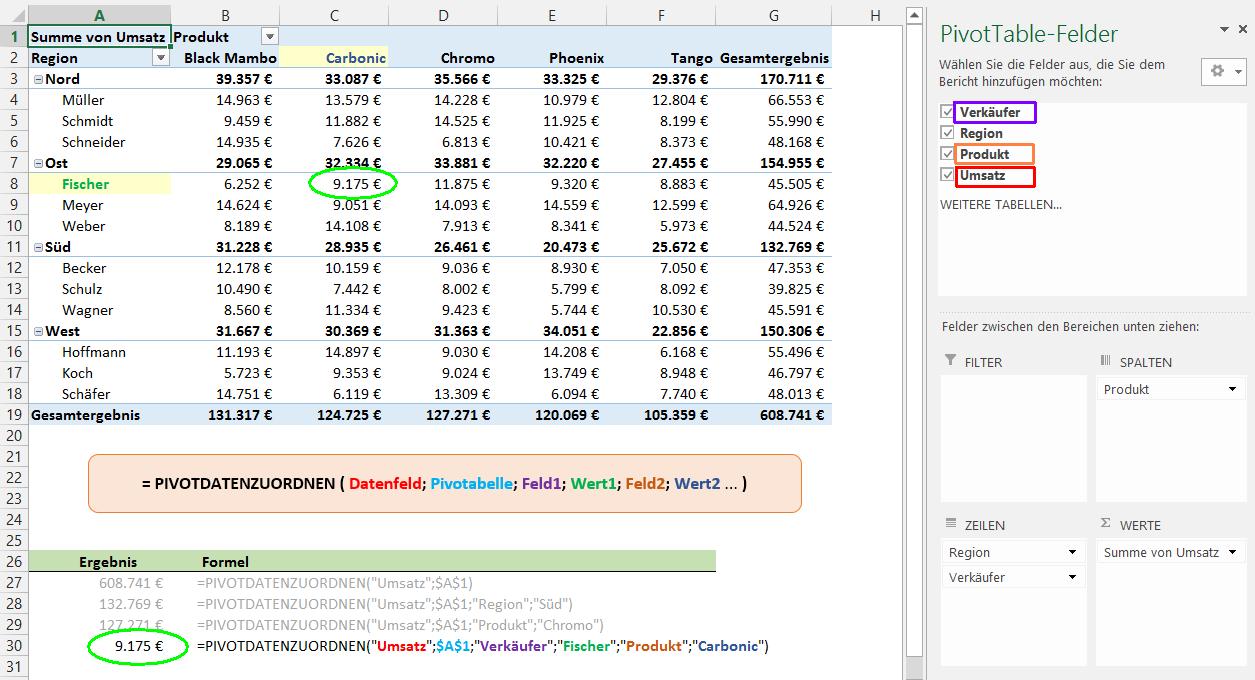 Wenn\'s auf den Einzelnen ankommt: Werte in Pivot-Tabellen ansprechen ...