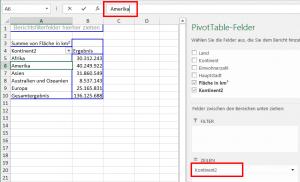 Die angepasste Pivot-Tabelle