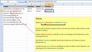 Extraktion Domain/Provider