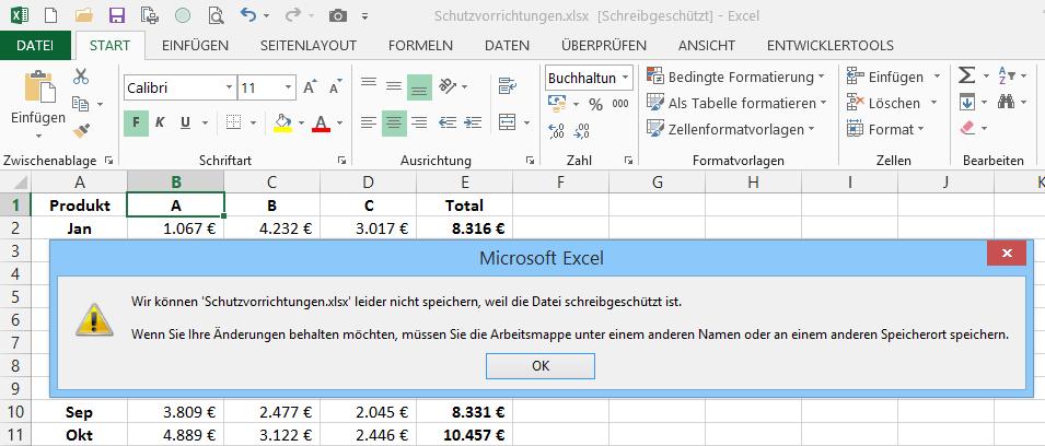 Du kommst da ned rein! Schutzvorrichtungen in Excel | Der Tabellen ...